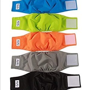 Other - NWT! 5 Pack Male Dog Reusable Diapers - Sz. L